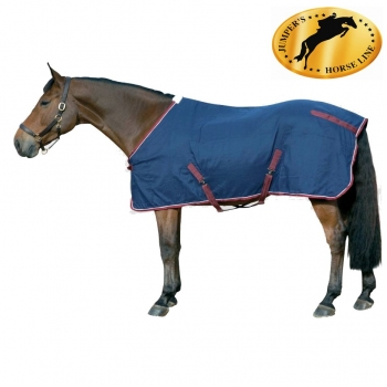 JHL JUMPERS HORSE LINE ESSENTIAL HORSE PRINT MEDIUMWEIGHT COMBO TURNOUT RUG